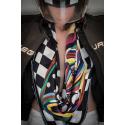 TOURAUTO 24 - Silk scarf - 90x90 - hem hand - VL design - Made in Italy