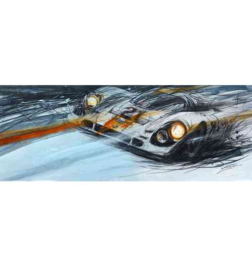 Porsche 917 - Porsche 917. Fine art paintings related to the classic car world