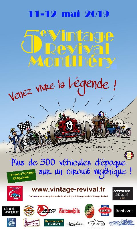 Affiche Vintage Revival Montlhéry 2019
