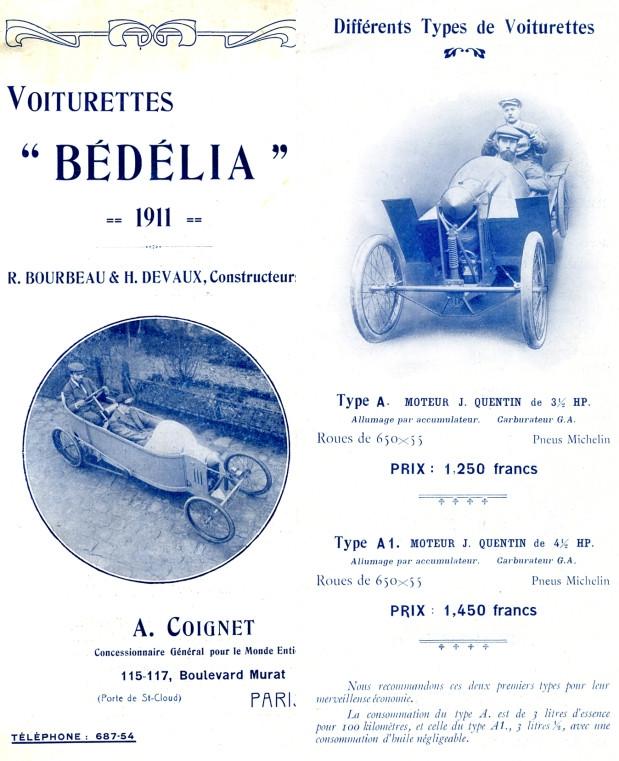 1911 Catalogue Bédélia