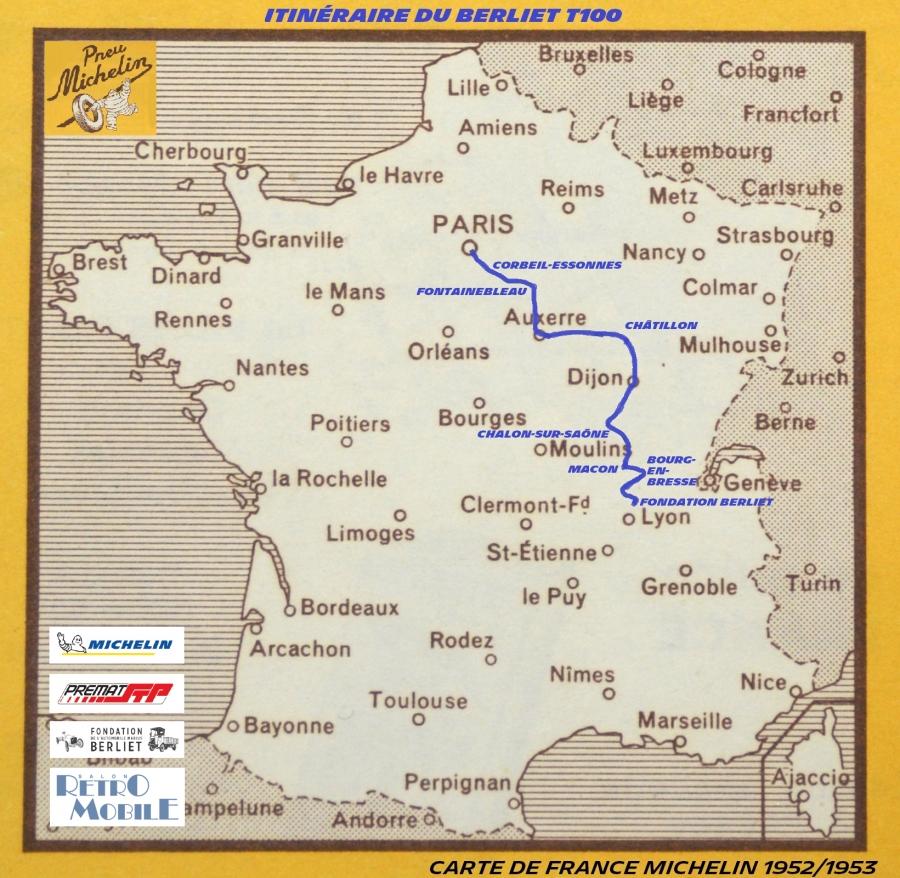 Le Trajet du Berliet T100, Michelin