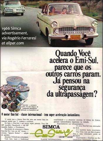 Publicité SIMCA Emisul 1966