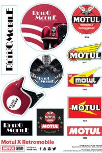 Stickers Rétromobile - Motul
