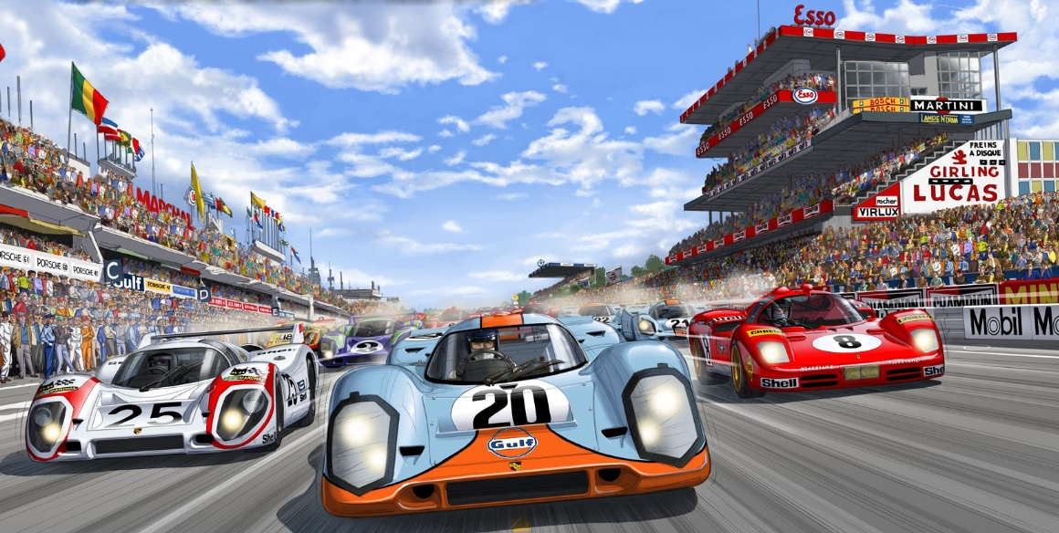 Steve mcqueen in graphic novel form salon r tromobile for Garage automobile le mans