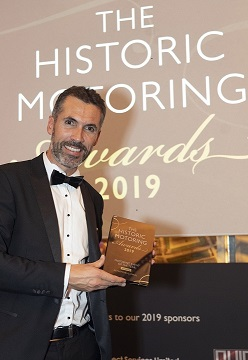 Historic Motoring Awards 2019 Winner, Jean Sébastien Guichaoua, Rétromobile