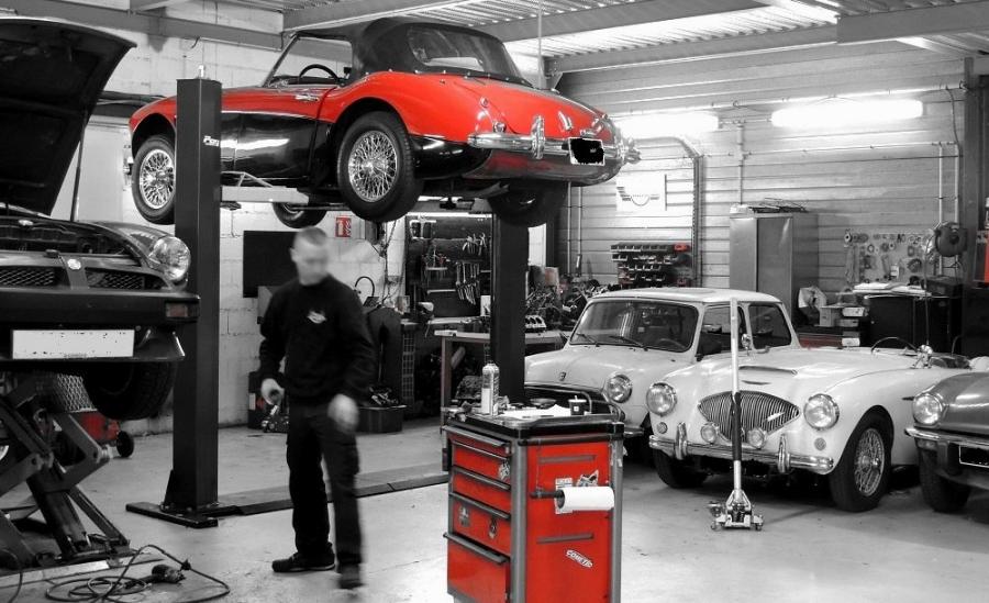 voiture de collection, voiture ancienne - ateliers mécanique